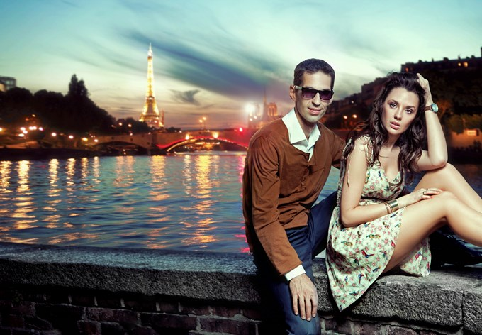 joli couple a paris