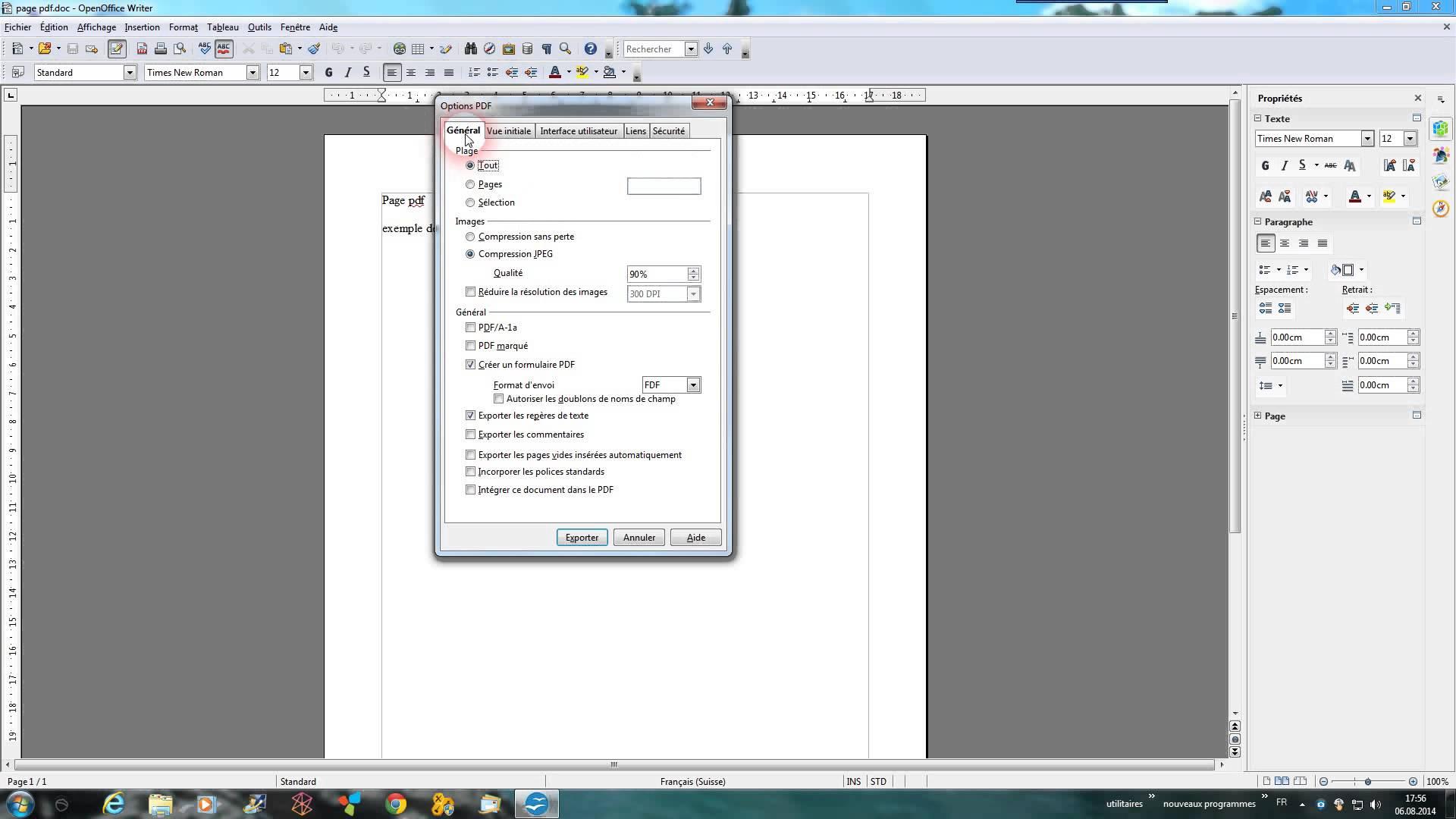 comment mettre en format pdf