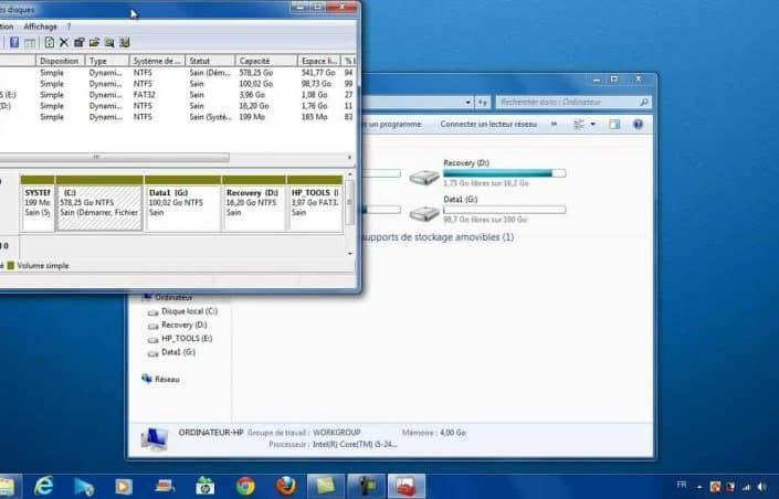 Comment partitionner un disque dur windows 7 ?
